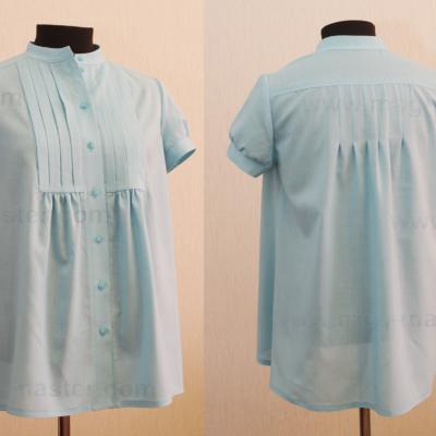 Легкая блуза (небесно-голубая)