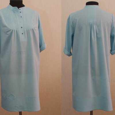 Платье-туника (удлиненная, голубая)