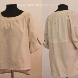 Блуза в фолклерном стиле из льна