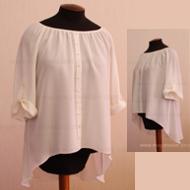 Легкая полупрозрачная блуза